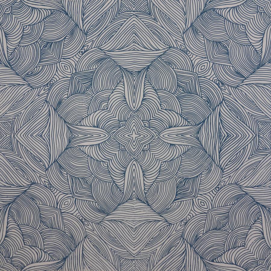 Mirrored Swirls Teal