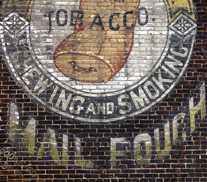 Mail Pouch Tobacco Brick Wall, Carnegie by Janet Towbin