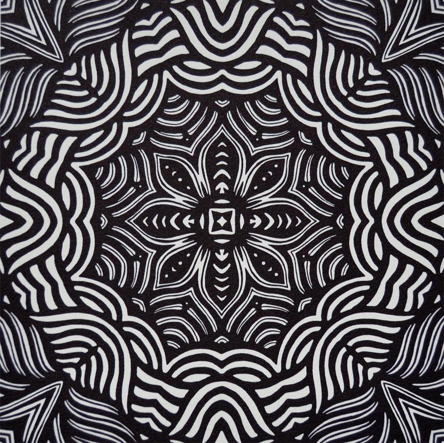 Print by Janet Towbin, Circle Swirl,