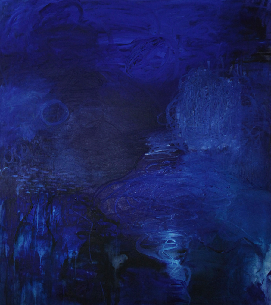 The Abyss 1996 painting by Janet Towbin