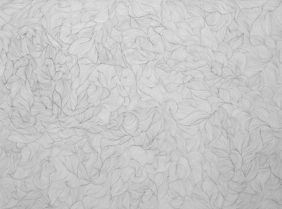 Swirls graphite on paper by Janet Towbin
