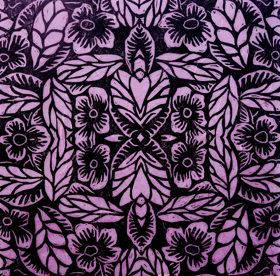 Jolies Fleurs (pink) by Janet Towbin