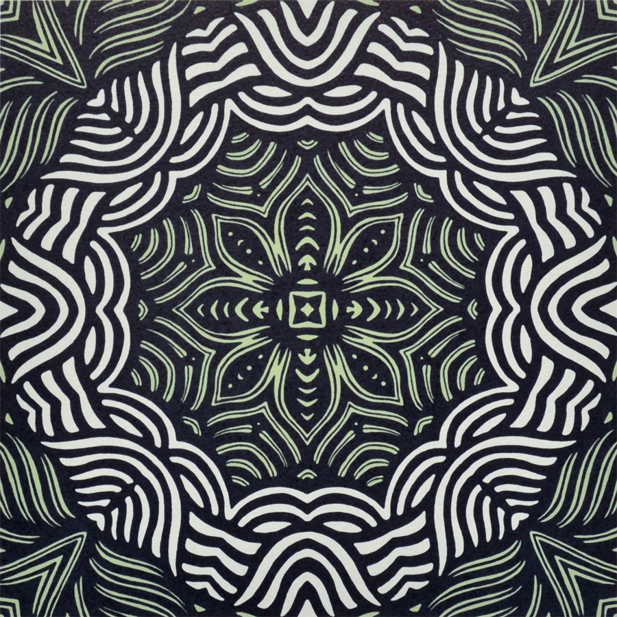 Print by Janet Towbin, Circle Swirl III,